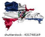 flag map dominican republic... | Shutterstock . vector #431748169
