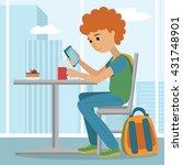vector flat illustration of... | Shutterstock .eps vector #431748901