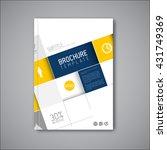 modern vector abstract brochure ... | Shutterstock .eps vector #431749369
