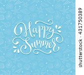 summer time wording with sea... | Shutterstock .eps vector #431750389