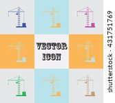 building crane vector icon | Shutterstock .eps vector #431751769