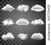 transparent clouds icons... | Shutterstock .eps vector #431753425
