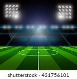 light of stadium. | Shutterstock .eps vector #431756101