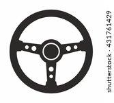 steering wheel icon | Shutterstock .eps vector #431761429
