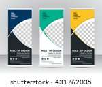 roll up banner stand template... | Shutterstock .eps vector #431762035