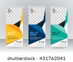 roll up banner stand template... | Shutterstock .eps vector #431762041