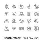 simple set of satellite related ... | Shutterstock .eps vector #431767654