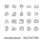simple set of navigation... | Shutterstock .eps vector #431767705