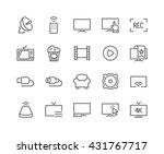 simple set of tv related vector ... | Shutterstock .eps vector #431767717
