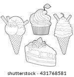 outline illustrations of cakes...   Shutterstock .eps vector #431768581