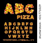abc pizza. appetizing letters... | Shutterstock .eps vector #431771029