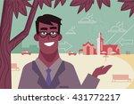 man talking about a restaurant  ... | Shutterstock .eps vector #431772217