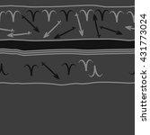 horizontal seamless  pattern of ... | Shutterstock . vector #431773024