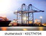 container cargo freight ship... | Shutterstock . vector #431774734