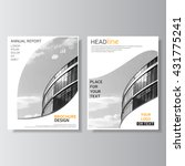 gray brochure template. annual... | Shutterstock .eps vector #431775241
