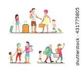 family vacation set. man woman... | Shutterstock .eps vector #431775805