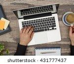 designer at desk | Shutterstock . vector #431777437