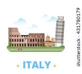 italy country design template.... | Shutterstock .eps vector #431780179