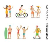 family vacation set. man woman... | Shutterstock .eps vector #431780191