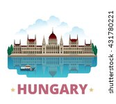 hungary country magnet design... | Shutterstock .eps vector #431780221