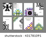 abstract background. geometric... | Shutterstock .eps vector #431781091