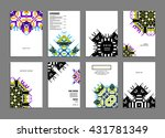 abstract background. geometric... | Shutterstock .eps vector #431781349