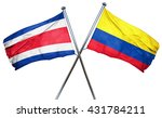 costa rica flag with colombia... | Shutterstock . vector #431784211