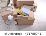 move concept. unpacking...   Shutterstock . vector #431785741
