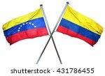 venezuela flag with colombia... | Shutterstock . vector #431786455