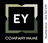 ey letters business logo... | Shutterstock .eps vector #431787199
