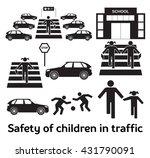 safety of children in traffic | Shutterstock .eps vector #431790091
