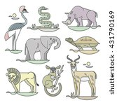 collection of african animals... | Shutterstock .eps vector #431790169