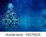 winter blue background with... | Shutterstock . vector #43179025