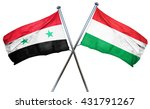 syria flag with hungary flag ... | Shutterstock . vector #431791267