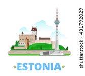 estonia country magnet design... | Shutterstock .eps vector #431792029