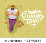 summer time lettering... | Shutterstock .eps vector #431793559