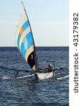 traditional indonesian sailing... | Shutterstock . vector #43179382