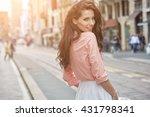 close up fashion woman portrait ... | Shutterstock . vector #431798341