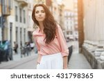 close up fashion woman portrait ... | Shutterstock . vector #431798365