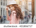 close up fashion woman portrait ... | Shutterstock . vector #431806717