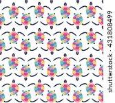 cute multicolor seamless... | Shutterstock .eps vector #431808499