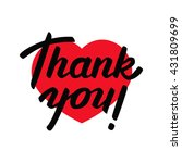 thank you   lettering design.... | Shutterstock .eps vector #431809699