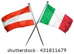 austria flag with italy flag ... | Shutterstock . vector #431811679