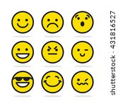 set of smile emotion icons | Shutterstock .eps vector #431816527