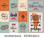 happy fathers day greeting... | Shutterstock .eps vector #431816611