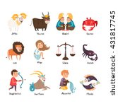 images of zodiac signs  aries ... | Shutterstock .eps vector #431817745