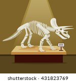 triceratops bones skeleton in... | Shutterstock .eps vector #431823769