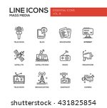 set of modern vector plain line ... | Shutterstock .eps vector #431825854