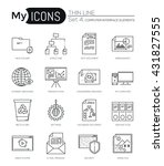 modern thin line icons set of... | Shutterstock .eps vector #431827555