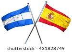 honduras flag with spain flag ...   Shutterstock . vector #431828749